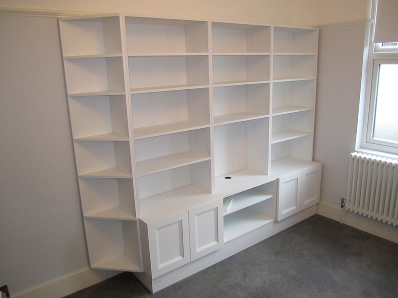 Bookcases london carpentry solutions for Media center with bookshelves